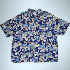 Disney Mickey Minnie Hawaiian Shirt Mens Large